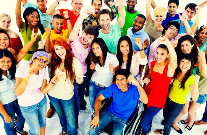 46684592 - diversity people crowd friends communication concept