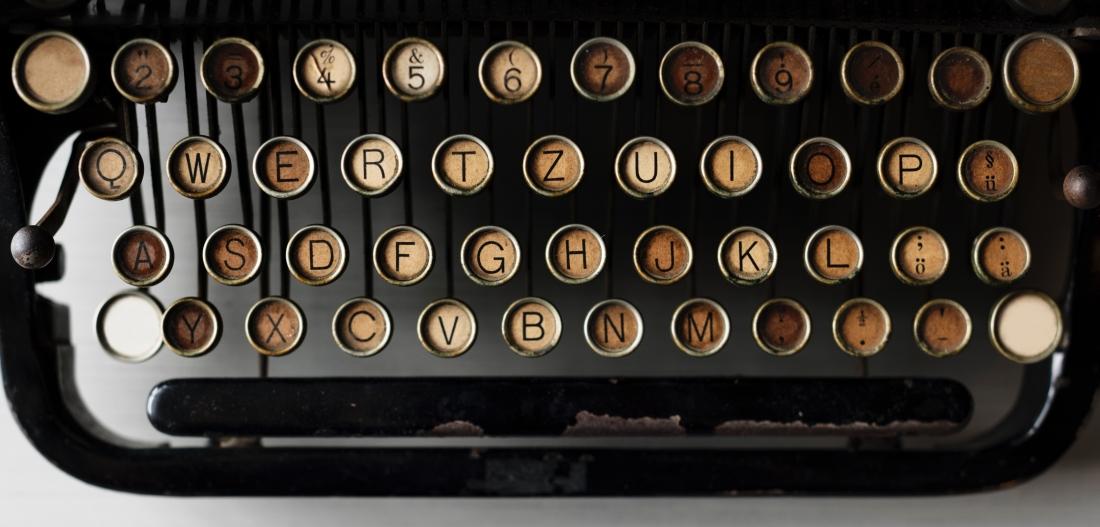 old-school typewriter